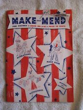 Make And Mend For Victory- Book No. S-10, Vintage 1942