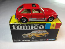 Tomy, Tomica #4 Mazda Familia 1500XG--(Red) Vintage Collector's Item!