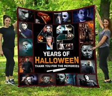 42 Years Of Halloween – Quilt Blanket, Fleece Blanket Made In Us
