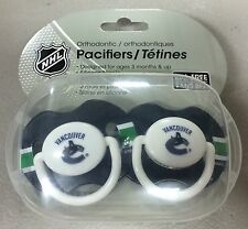 2 Pack NHL Vancouver Canucks Pacifier Set 3 months and up