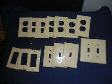Vintage Plastic Switch Plate Plug Outlet Cover Beige Off White Lot of 14 Pieces