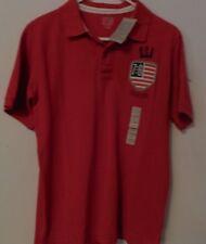 NWT Canyon River Blues boys USA red short sleeve polo shirt size XL (18/20)