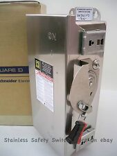 Square D 316 Stainless H361SS 30 amp 600v Fused Safety Switch 59 Available NEW