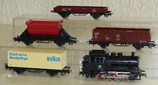 5x Märklin: Dampflok 3000, Containerwagen, Kipplore, offener Gw .. Spur 1:87 H0