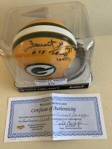 Green Bay Packer NFL HOF Tackle Forrest Gregg (D4/19) Signed Ridell Helmet. COA.