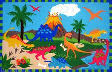 3x5 Area Rug Jurassic World Dinosaurland Dinosaur Wild Park Kids w Non Skid Back