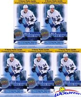 (5) 2017/18 Upper Deck Series 1 Hockey Factory Sealed Blaster Box-10 Young Guns