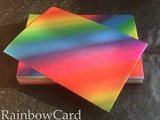 20 SHEETS - RAINBOW A4 CRAFTING CARD 390 GSM
