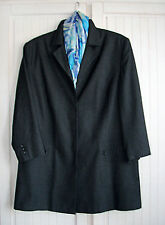 ULLA POPKEN Collection ●.48 XXL Longblazer Blazer ● anthrazit schwarz Business
