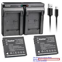 Kastar Battery Dual USB Charger for Panasonic SDR-S10 SDR-S10EB-K SDR-S10EG-K