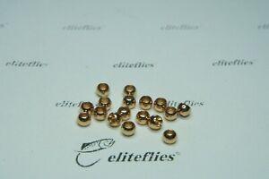 eliteflies 100 Gold Brass beads 2.8 mm fly tying flies head fishing trout