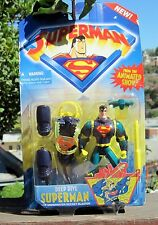 1996 Kenner Superman Animated Show Action Figure  Deep Dive Superman W/Under MOC