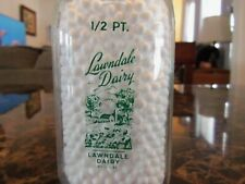Very Rare VINTAGE LAWNDALE DAIRY LAWNDALE CALIFORNIA LOS ANGELES COUNTY 1/2 PINT