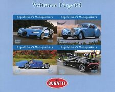 Madagascar Cars Stamps 2020 MNH Bugatti Automobiles Motoring 4v IMPF M/S
