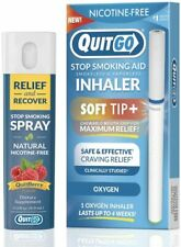 QuitGo Dual Support Quit Kit with Smoke-Free Soft Tip and Herbal Relief (Oxygen)