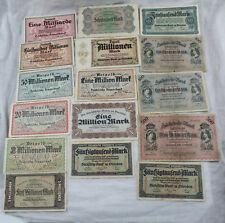 Konvolut 16x Banknote Notgeld Sächsische Bank + Staatsbank Dresden 1890 - 1923
