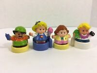 Fisher-Price Little People Lot of 4 Figures w/ Chairs 1996 - 2003