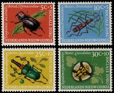✔️ NETHERLANDS NEW GUINEA 1961 - FAUNA INSECTS - MI. 69/72 ** MNH