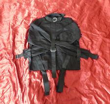 Medium Noir asile Heavy Duty Canvas Bondage Camisole de force medical restraint ...