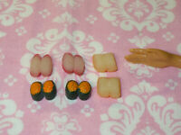 Barbie Doll Food SUSHI LOT Kitchen Take Out Rare Dream House Accessories Re-Ment