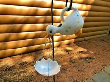 OOAK REPURPOSED CERAMIC DUCK BIRD FEEDER YARD/GARDEN ART MT CREATIONS