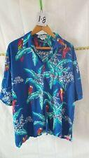 Vintage Men's Hawaiian Fun-Wear Xxl Button Shirt With Fun Hawaiian Parrots