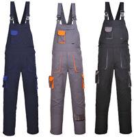 Portwest TX12 Texo Bib & Brace Work Wear Overall Coverall Garage Decor Plumbing