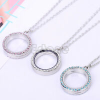 Fashion Charm Living Memory Floating Charms Glass Round Locket Pendant Necklace