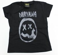 Brand New Never Worn Kids & Teens Nirvana Black T-shirt Sizes 5-6, 7-8, 9-10, 11