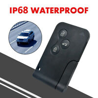 Replacement 3 button key card case for Fit Renau Megane mk2 Scenic remote fob