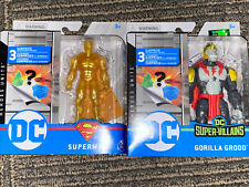 Spinmaster Dc Heroes Unite Super Villains Gorilla Grodd & Gold Superman Sealed