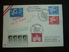 Postal History-Europa- Switzerland -Scott# 410-411 & 397 - Rocket Mail to Vienna