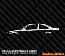 2X Car silhouette stickers - for Honda Civic Ek / Ej COUPE, 6th generation