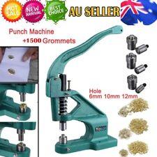 Grommet Eyelet Hole Punch Machine Hand Press 3 Dies + 1500pcs Silver Grommets