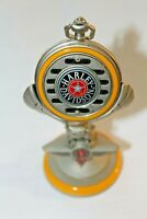 Vintage 1998 Franklin Mint Harley Davidson Fat Boy Motorcycle Pocket Watch,Stand