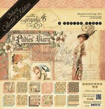 """GRAPHIC 45 """"A LADIES DIARY"""" DELUXE COLLECTOR'S EDITION FASHION SCRAPJACK'S PLACE"""