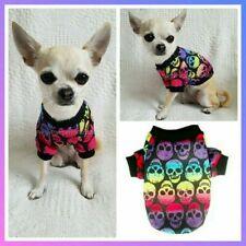 XXXS XXS S SMALL Rainbow Skulls Puppy Dog Coat Sweater Chihuahua Clothes