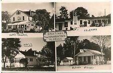 Greetings From Masaryktown FL Multiview RP Postcard 1952 Gas Pumps
