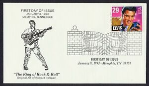 #2721 29c Elvis, Memphis Collectibles [2] FDC **ANY 5=FREE SHIPPING**