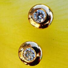 Brillant Ohrstecker 0.08 ct W/SI TOLLE BRILLANZ 750er Gelbgold ungetragen