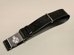 The Rifles Black-Plastic No 2-Dress Waist Belt & Buckle. 38-Inch Waist.