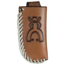HOOey Knife Sheath Punchy Logo Leather Laced Brown 1835537K1