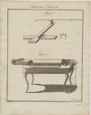 Instrumento musical de HURDY GURDY Gurdy original grabado música de 1710