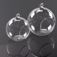 Clear Hanging Glass Bauble Ball Tealight Candle Holder Wedding Garden Decor ML