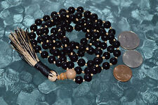 Root Chakra Black Onyx Hand Knotted Mala Bead Necklace -Emotional Protection