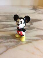"Walt Disney Vintage Mickey Mouse Porcelain Figurine 3"" Made in Japan"