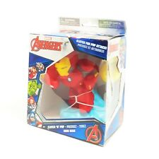 Marvel Avengers Clutch n Pop Iron Man Foam Ball Attack Collector Kid Toy