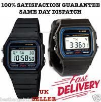 New F91W Classic LCD Digital RETRO Sports Alarm Stopwatch Wrist Watch with Resin