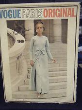 Vogue Paris Original Nina Ricci #1940 Overdress w/Skirt or Pants Pattern - Sz 8