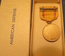 AMERICAN DEFENSE MEDAL w/ ORIGINAL BOX....